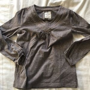 Girls XS Grey Old Navy Long Sleeve Shirt